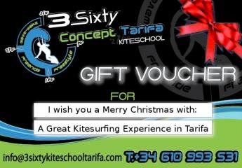 Gift Voucher kitesurfing lessons in Tarifa